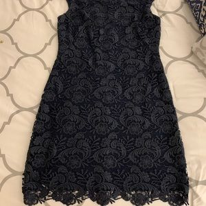 Ralph Lauren Navy Lace Dress